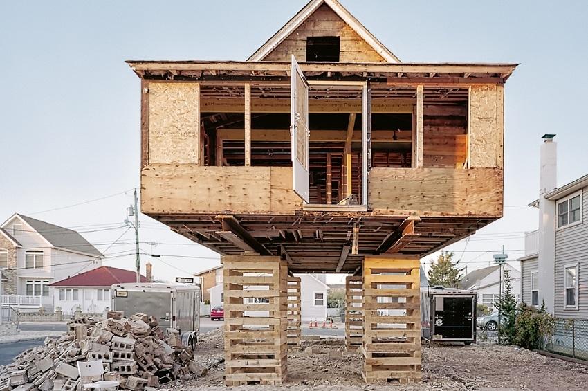 """""""ფეხებზე შემდგარი სახლები"""" ნიუ ჯერსიში"""
