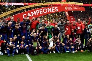 """""""ბარსელონამ"""" ესპანეთის სამეფო თასი ზედიზედ მეოთხედ მოიგო"""