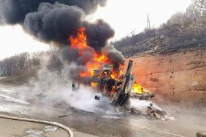საწვავმზიდს, რომელიც გომბორის გზაზე აფეთქდა, 23 ტონა დიზელი გადაჰქონდა
