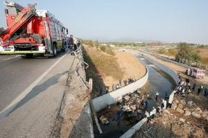 სატვირთო მანქანის ავარიის შედეგად თურქეთში 22 მიგრანტი დაიღუპა