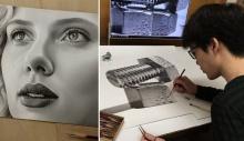 იაპონელი მხატვრის ნახატები, რომლებიც მნახველს ფოტოები ჰგონია