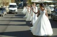 ქორწინების წასახალისებლად ჭიათურას 70 საქორწინო კაბა გადასცეს