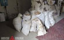 ასპინძაში ეკლესიის ეზოდან გადაყრილი ძვლები ახალ სამარხში განთავსდება