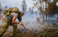 ხანძრის ჩაქრობის პროცესში მონაწილე ჯარისკაცებს 625 ლარის ოდენობის პრემია გადაეცათ