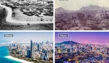 როგორ შეიცვალა ცნობილი ქალაქები წლების განმავლობაში