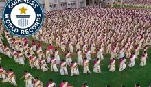 ათასობით ქალის მიერ შესრულებული ინდური ცეკვა გინესის რეკორდებში შეიყვანეს