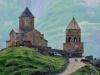 გერგეტის სამებაში იატაკი აყარეს, ეკლესია ტურისტებისთვის დაკეტილია